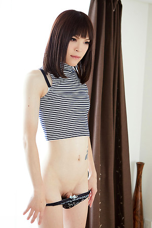 Cute japanese tgirl Kawai Yui showing his skinny body together with nice nuisance