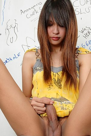 Young ladyboy walking the excursion for valuables in a gloryhole action!