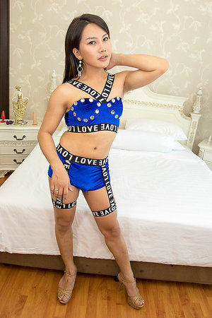 Ladyboy Tou Ever Hard with the addition of Bottomless Bareback