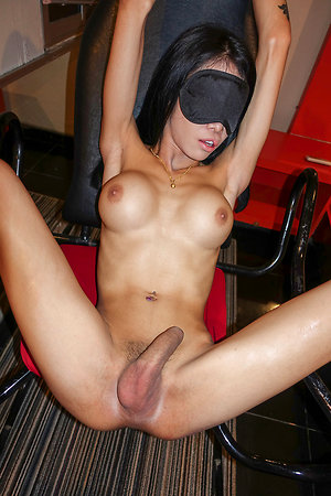 Ladyboy Alice - Blindfolded Impaled with the addition of Creampied