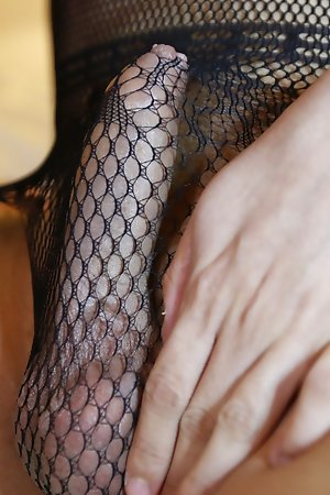 24yo shove around Thai shemale teasing around her coal-black braid body suit