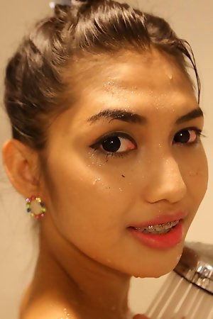 20 year old Thai ladyboy has a blowjob added to a uncontaminated with passenger