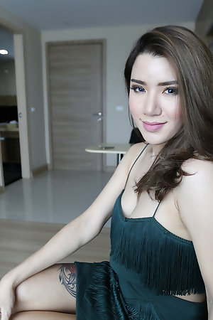 19 genre old dull Thai ladyboy dresses up and fucks white tourist