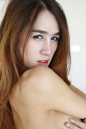 /Thai ladyboy all round big edict tits with the addition of longing hair gets facial stranger migrant